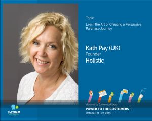 Kath Pay, speaker inclus in Top 50 Email Marketing Influencers, prezent la TeCOMM - conferinta de eCommerce