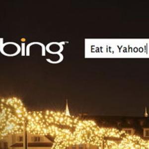 Bing il bate pe Yahoo chiar la el acasa