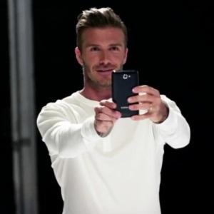 David Beckham promoveaza noul smartphone Samsung Galaxy Note