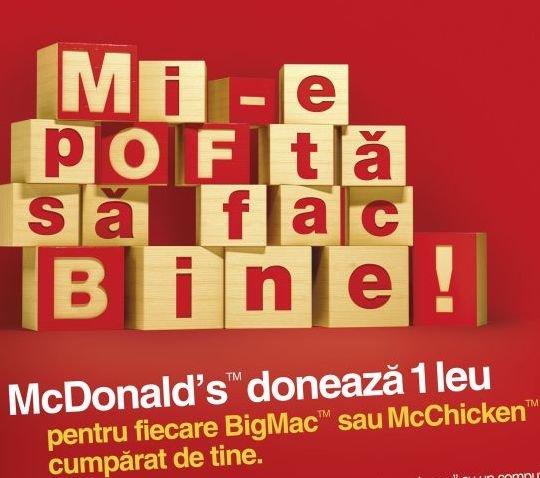 McDonald's Romania ne face pofta de bine