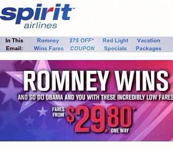 Cum sa dai gres cu un mesaj politico-promotional. Exemplul Spirit Airlines