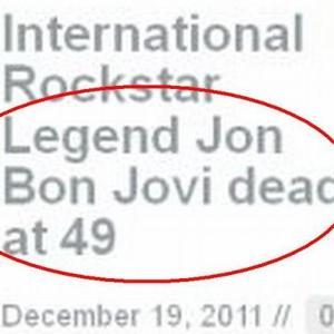 Jon Bon Jovi, ucis si reinviat pe Internet