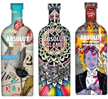 Publicitate artistica sau proiectul Absolut Blank in Romania