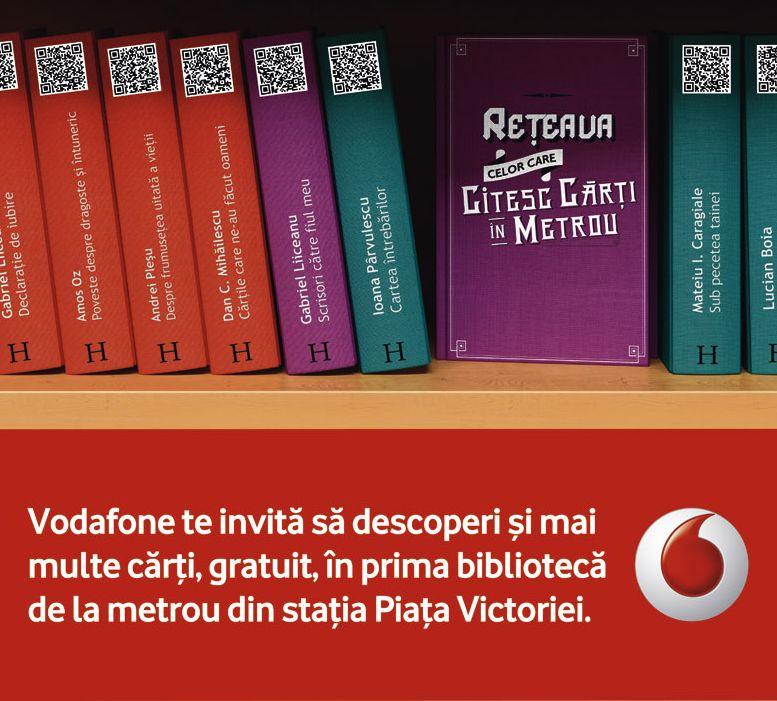 Vodafone da de citit: Brandul a lansat prima biblioteca digitala din Romania