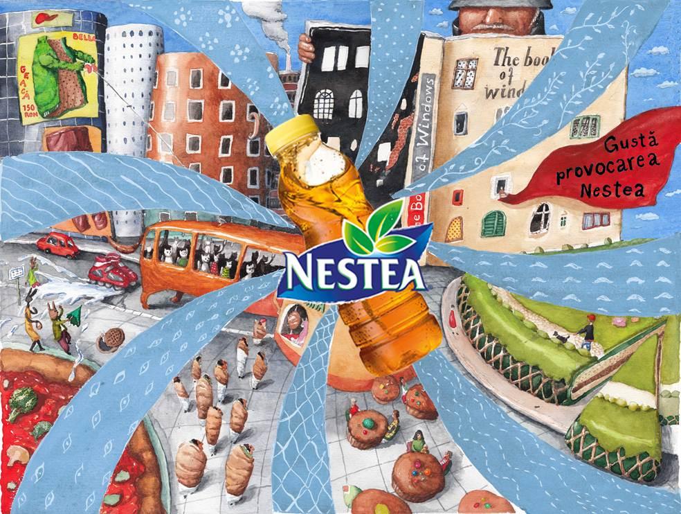 Liber la creativitate: Nestea a lansat o competitie de design publicitar