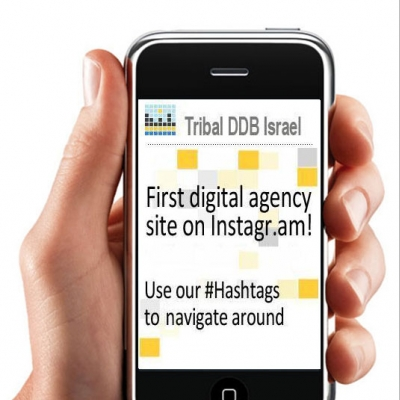 Cu site-ul in retea: Tribal DDB Israel este prima agentie care s-a mutat pe Instragram