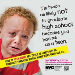 Campanie impotriva mamelor adolescente la metroul din New York