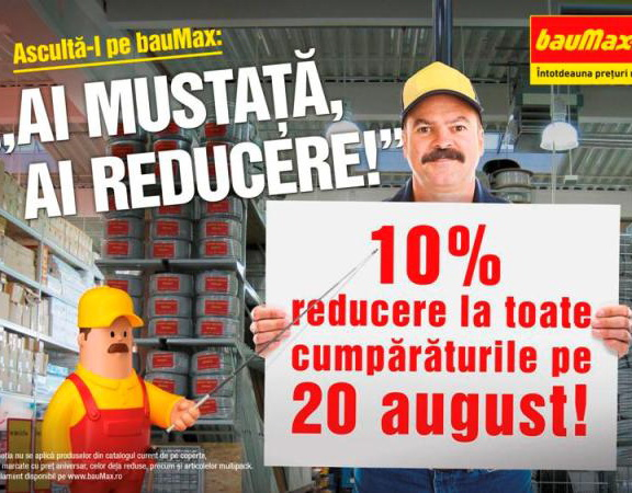 Reduceri la Mustata (Baumax) este Campania Integrata a anului 2012 la ADC Awards