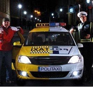 PoliTaxi, masina cu doua fete dintr-o campanie impotriva consumului de alcool la volan