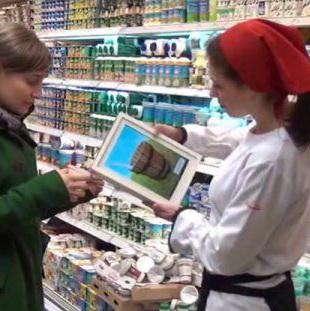 Ingeniozitate publicitara: Napolact si-a invitat consumatorii sa mulga o tableta