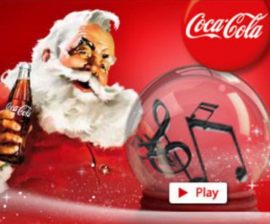 Coca-Cola a adus in Romania tonomatul de colinde
