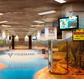 Publicitate neconventionala cu un lac 3D si o statie de metrou