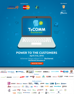 Premium Customers si Strategii din online dincolo de sperante, la Conferinta de eCommerce TeCOMM Bucuresti
