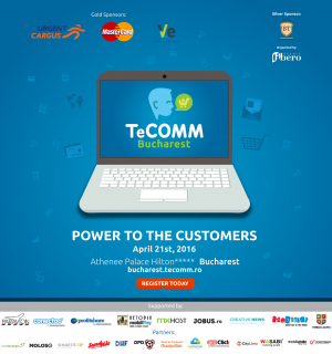 Top playerii eCommerce-ului national, prezenti la TeCOMM Bucharest