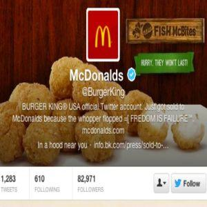 Burger King vrea sa-si ceara scuze fata de McDonald�s dupa ce contul de Twitter i-a fost spart