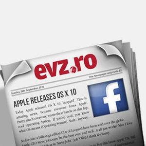 Evenimentul Zilei a lansat primul ziar romanesc de pe Facebook