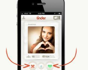 Tinder, aplicatia preferata de utilizatorii care isi dau intalniri online
